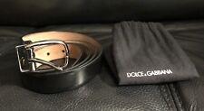 Authentic Dolce Gabbana Men's Black Dress Belt Size 105 Cm 42 Inches Italy