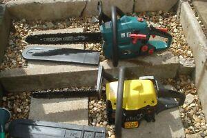 Chain saws job lot Spare or repair mcculloch/ garden tec , both start and run