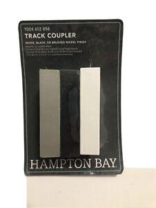 Hampton Bay 2400 Watt White Track To TracK Light Coupler w/ White Black & Nickel