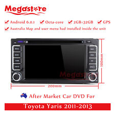 """6.2"""" Octa Core Android 6.0 Car DVD GPS Player Nav For Toyota Yaris 2011-2013"""