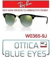 Occhiali da SOLE RAYBAN RB3016 CLUBMASTER REMIX 9J Sunglasses Ray Ban Black NEW