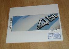 VOLVO 480 BROCHURE 1988 - 480 ES 1.7 COUPE