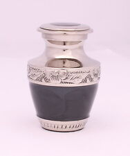 Mini Cremation Keepsake Ashes Urn, Memorial Remembrance Small Urn Black, SALE