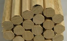 Oak Dowel/Peg Wood/Pegwood/Stick/ 18mm Diameter - Bundle of 20 x 1m lengths