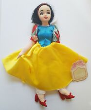 "Vintage Applause SNOW WHITE Plush Body Doll 12""  Piroette w/ Tags Rubber Face"