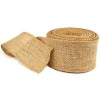 Burlap Hessian Roll Ribbon 5cm x 10m Jute Natural Fabric Material Craft