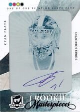 10-11 UD The Cup  Sergei Bobrovsky  1/1 The Cup Printing Plate  Auto  Rookie