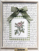 Janlynn Nature Collection Counted Cross Stitch Kit Floral Rose New Sealed NWT