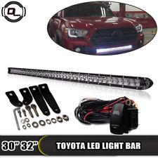 "32"" LED Light Bar Hidden Bumper W/ Mount bracket 2016-2018 TOYOTA Tacoma 30"""