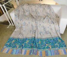 Bassetti Stoff MISTY 250x230 blau beige Tischdecke Decke Kissen Vorhang Überwurf