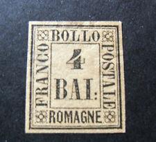 "ITALIA ,ITALY 1859 Old State Romagne "" Valore in Cornice"" 4b Fulvo MH*.Signed"