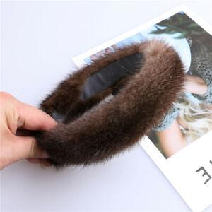 women's luxury100% mink fur headband high quality real fur hair band Hair hoop