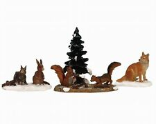 New Lemax Figurines Woodland Animals Set of 4 # 12516  Polyresin 2017