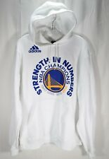 Adidas Golden State Warriors Sweater Hoodie White Mens Sz M strength In Numbers