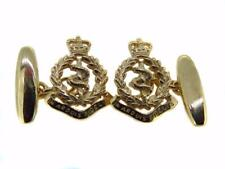 New 9ct Gold ROYAL ARMY MEDICAL CORPS RAMC Men's Cufflinks. Made to order