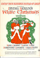 """WHITE CHRISTMAS Sheet Music """"Count Your Blessings"""" Bing Crosby Vera Ellen"""
