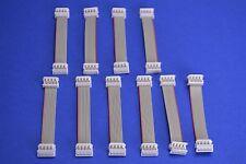 10 Molex Picoflex PF-50 IDT-to-IDT 8 Circuits Ribbon Cables 70mm Long 92315-0807