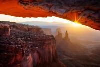 Sunrise at Mesa Arch Photo Art Print Poster 24x36 inch