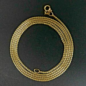 FINE 18 CT GOLD 'S' LINK 60 CM CHAIN NECKLACE - 6.3 GRAMS