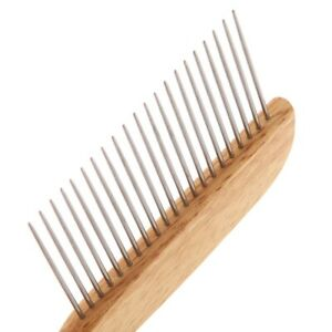 Groom Professional Wooden Poodle Comb (XL Pins)