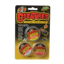 Zoo Med Creature Food Jelly Cup (Banana, Nectar, Brown Sugar)  3 Pack 0.56 oz