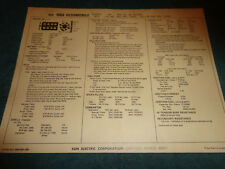 1968 OLDSMOBILE 400 V-8 ENGINE SUN TUNE-UP CHART / WITH 4BBL CARB