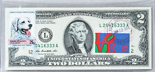 Paper Money Us Two Dollar Note 2009 Gem Unc Business Gift Stamp Hungarian Kuvasz