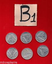lotto 10 lire repubblica italiana italy 6 monete 1955 1973 1979 1980 1981 82
