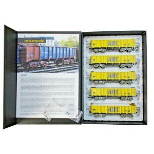 Accurascale 2106ARC1, 00 gauge,PTA/JUA Bogie Tippler Pack -ARC Mustard outer pac