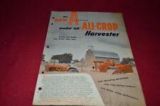 Allis Chalmers 60 All Crop Combine Dealer's Brochure AMIL13