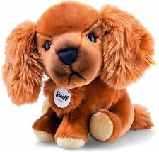 Steiff 079764 Big Head Elliot Dog Plush, Russet