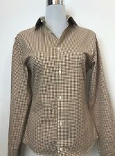 NWOT COUNTRY ROAD COTTON CHECK / GINGHAM SLIM FIT BUTTON DOWN SHIRT SIZE 38 / XS