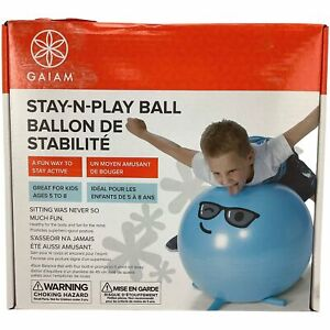 GAIAM Stay-N-Play Kids Yoga Ball / Kids Activity Ball / Blue