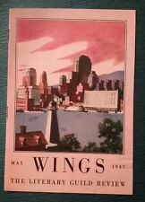 Wings May 1947 Literary Guild Magazine Booklet Book: Gabrielle Roy's Tin Flute