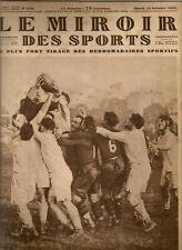Le Miroir des Sports n° 510 - 1929 - Aviation - Cyclisme - Rugby - Boxe - Foot