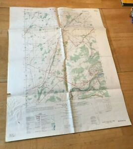 Black River Original Vintage Army Topo Map 1960 USGS