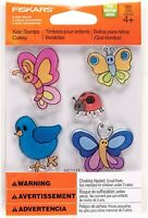 CUTESY Insects Bird FISKARS Small Rubber Stamp Set for Scrapbook Stamping SALE