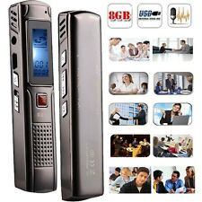 8GB Steel Stereo Recording Digital Voice Recorder Dictaphone Audio MP3 player BL
