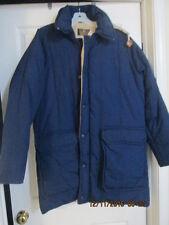 Men's Winter Coat Size L Blue w zipoff hood New w/o tags
