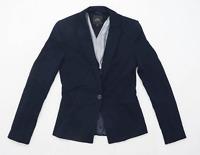 Next Womens Size 6 Blue Suit Jacket (Regular)