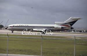 Delta Boeing 727-232 N504DA, Miami, 4.94, Colour Slide, Aviation Aircraft