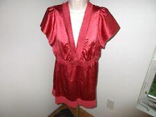BCBG Maxazaria Top-Coral Rust-Silk Blend-V-Size M-NWOT- #M22