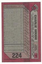 CHARLIE HOUGH 1989 Bowman #224 ERROR CARD BLANK FRONT NM-MT MLB Texas Rangers