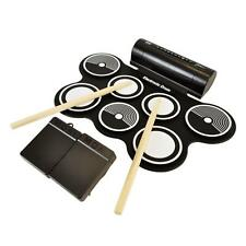 New! Portable 7 Drum Pad Drum Kit w/ Foot Pedals & Drum Sticks Demo Songs