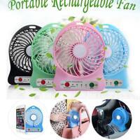 Portable Rechargeable Desk Pocket Mini Fan Handheld Travel Blower Air Cooler GA