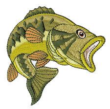 aa97 Fisch Grün Karpfen Aufnäher Bügelbild Applikation Flicken Patch 7 x 7,7 cm