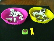 Meg Inc 2 Sets 1994 Puppies in My Pocket Dalmation and St Bernard by Hasbro
