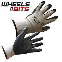 12, 24, 36 PAIRS OF NEW NITRILE COATED WORK GLOVES CONSTRUCTION GARDARDENING