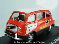 FIAT 750 MULTIPLA ABARTH MODEL CAR 1960 1/43RD SCALE RED/WHITE ISSUE K8967Q~#~
