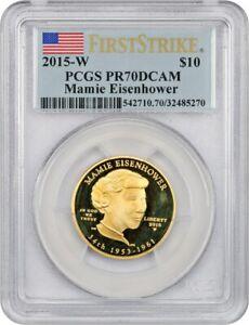 2015-W Maime Eisenhower $10 PCGS PR 70 DCAM -